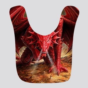 Angry Red Dragon Bib