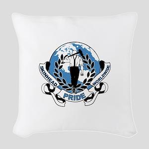 Skinhead Pride Worldwide Woven Throw Pillow