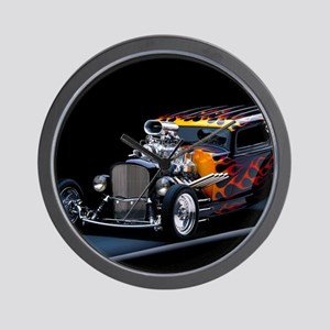 Hot Rod Wall Clock