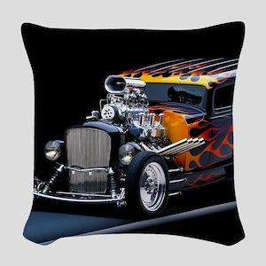 Hot Rod Woven Throw Pillow