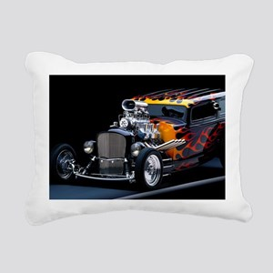 Hot Rod Rectangular Canvas Pillow