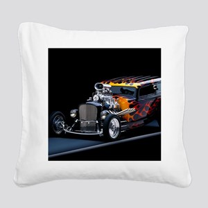 Hot Rod Square Canvas Pillow