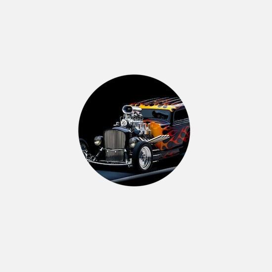 Hot Rod Mini Button