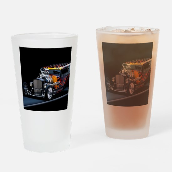 Hot Rod Drinking Glass
