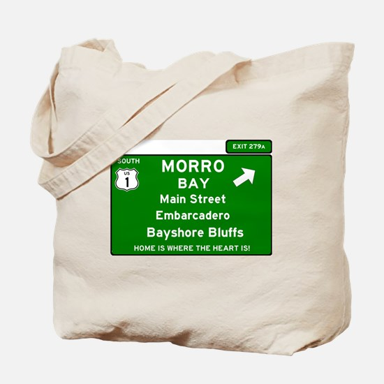 HIGHWAY 1 SIGN - CALIFORNIA - MORRO BAY - Tote Bag