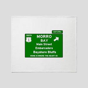 HIGHWAY 1 SIGN - CALIFORNIA - MORRO Throw Blanket