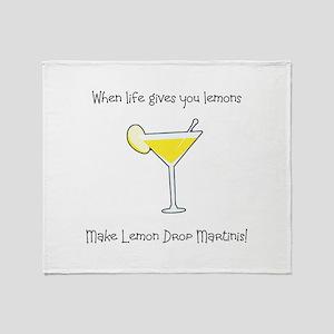 Lemon Drop Martinis Throw Blanket