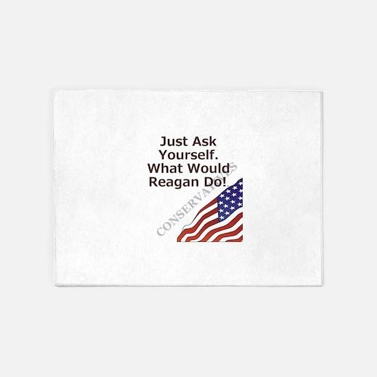 Conservative Mantra 5'x7'Area Rug