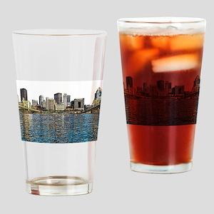 Pittsburgh City Sketch 4x6 Drinking Glass