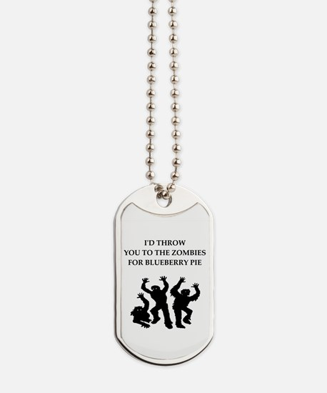 blueberry pie Dog Tags