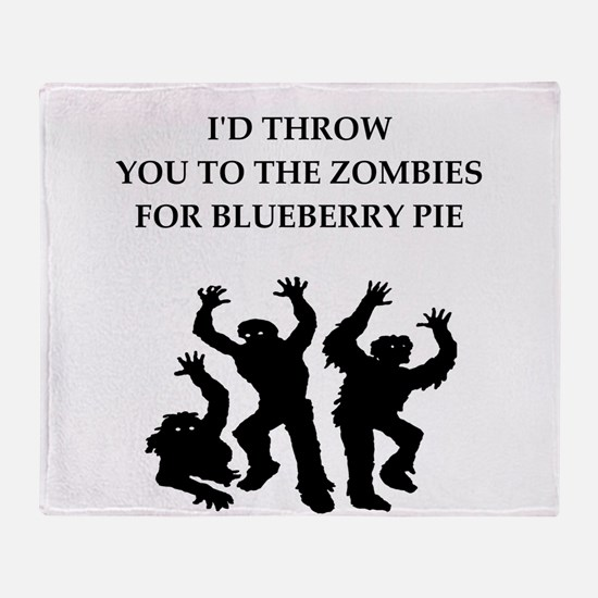 blueberry pie Throw Blanket