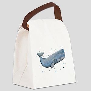 Sperm Whale Canvas Lunch Bag