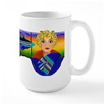 Woman Aviator Large Mug