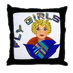 Woman Aviator Throw Pillow