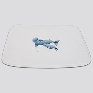 Beluga Whale and Baby Bathmat