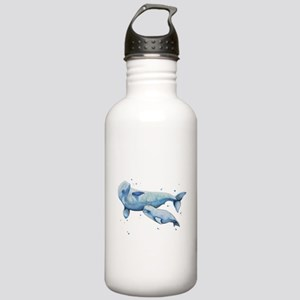 Beluga Whale and Baby Stainless Water Bottle 1.0L