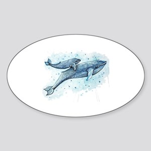 Blue Whale and Baby Sticker