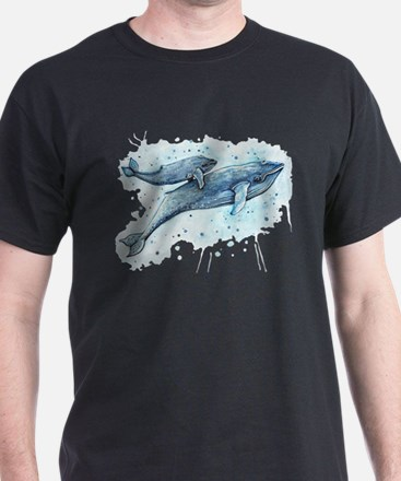 Blue Whale and Baby T-Shirt