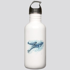 Blue Whale and Baby Stainless Water Bottle 1.0L