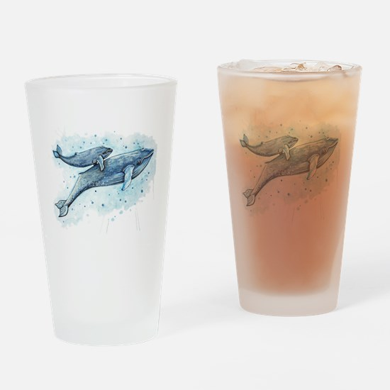 Blue Whale and Baby Drinking Glass