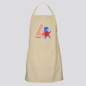 4th Birthday Personalized Name Apron