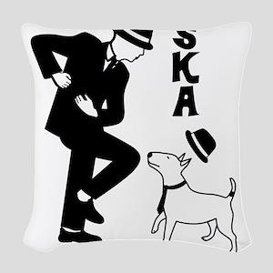 Rude Boy and Winston Woven Throw Pillow