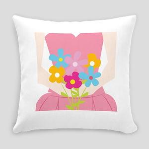 Blossom Girl Everyday Pillow