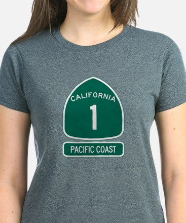 California 1 Pacific Coast Women's Dark T-Shirt