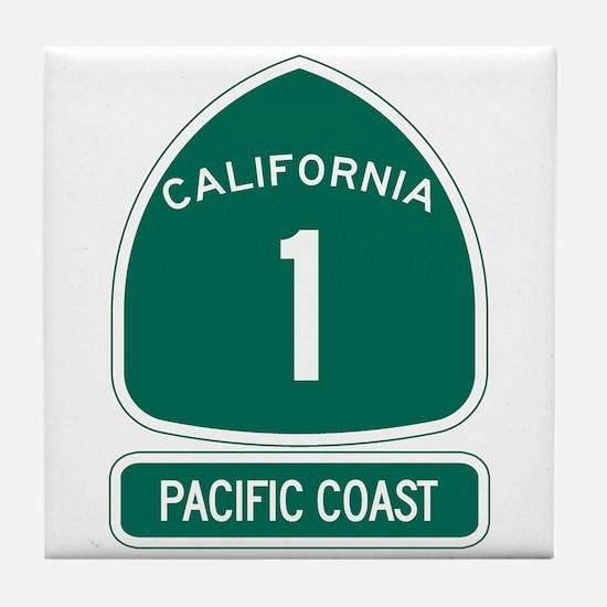 California 1 Pacific Coast Tile Coaster