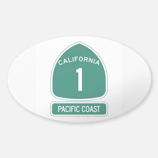 California 1 Pacific Coast Sticker (Oval)