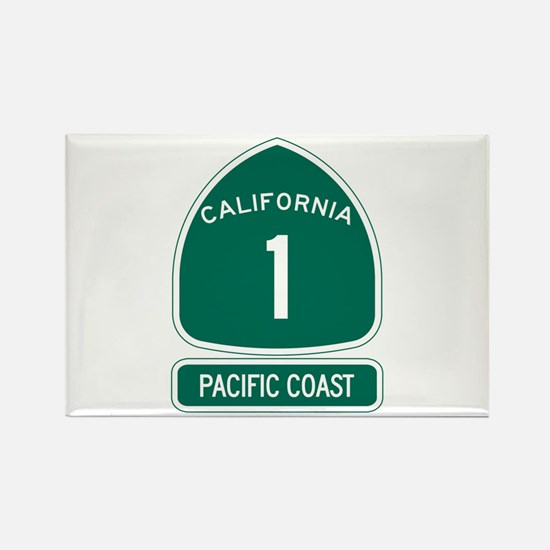 California 1 Pacific Coast Rectangle Magnet