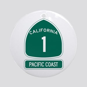 California 1 Pacific Coast Round Ornament