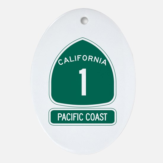 California 1 Pacific Coast Oval Ornament