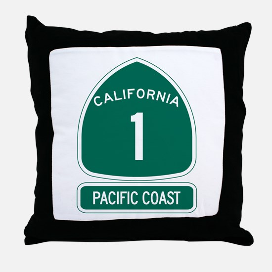 California 1 Pacific Coast Throw Pillow