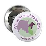 "World Animal Reiki Day 2.25"" Button"
