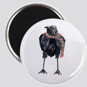 Black Winter Crow Magnets