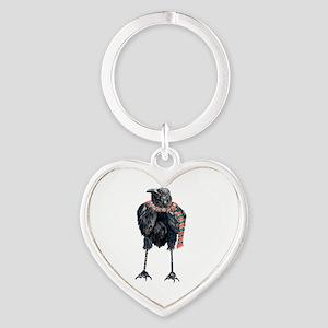 Black Winter Crow Keychains