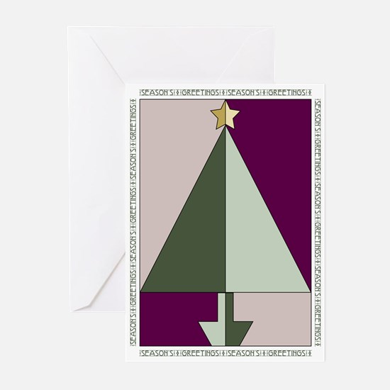 Unique Green purple Greeting Cards (Pk of 20)