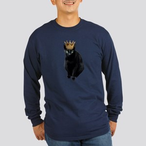 Black Cat Crown Long Sleeve T-Shirt