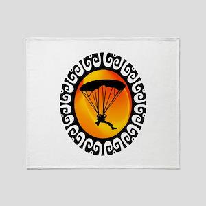 SKYDIVE Throw Blanket