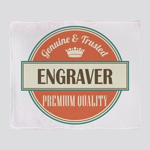 engraver vintage logo Throw Blanket