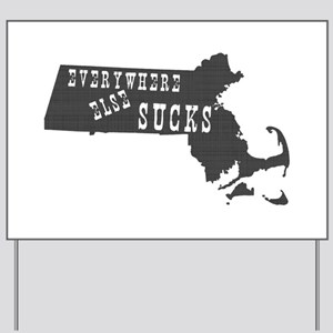 Massachusetts Yard Sign