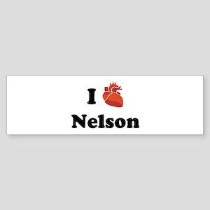 I (Heart) Nelson Bumper Sticker