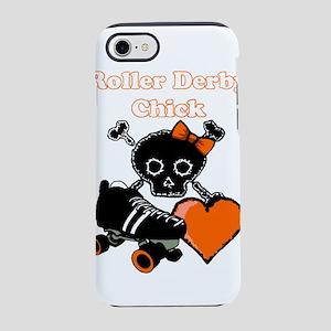 Roller Derby Chick (Orange) iPhone 8/7 Tough Case