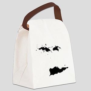 US Virgin Islands Silhouette Canvas Lunch Bag