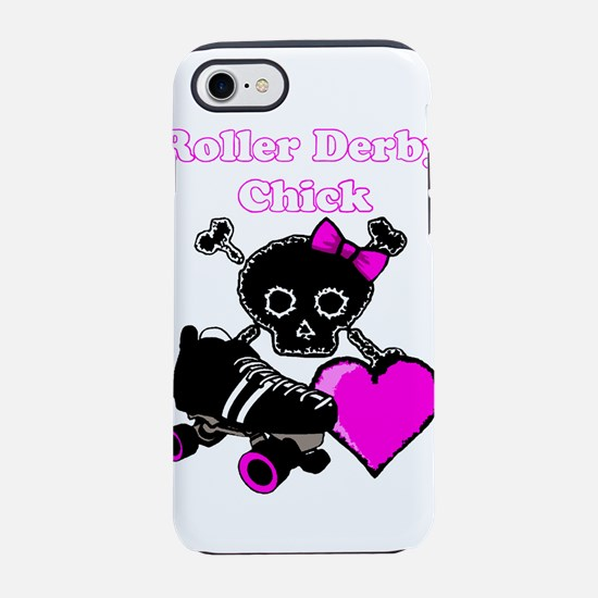 Roller Derby Chick (Pink) iPhone 8/7 Tough Case