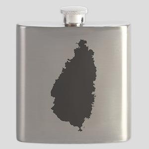 Saint Lucia Silhouette Flask