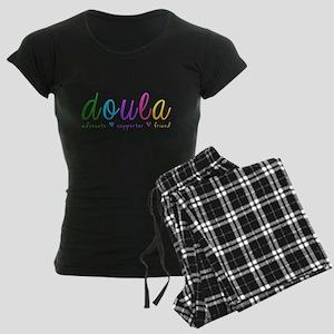 Rainbow Doula Dark Women's Dark Pajamas