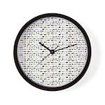 23 Amazon River Fish pattern Wall Clock