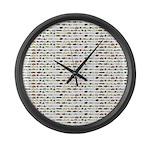 23 Amazon River Fish pattern Large Wall Clock